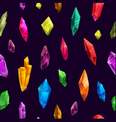 colorful crystal pattern in modern style fancy vector image