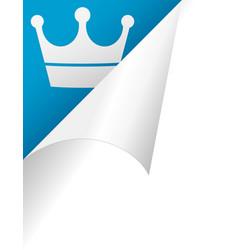 crown page peel vector image