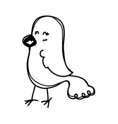 cute birdie cartoon vector image
