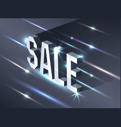 dark banner for black friday sale metallic vector image