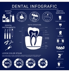Dental and teeth care infografics vector image vector image