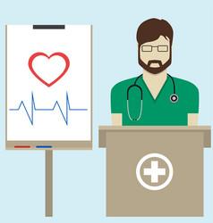 Doctor flat design vector