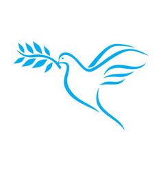 Dove peace vector