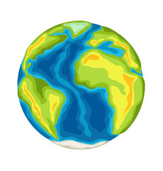 earth with continents and oceans vector image