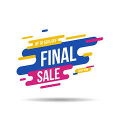 final sale banner up to 50 off vector image