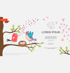 flat natural romantic template vector image