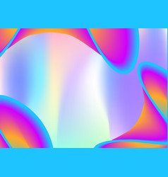 fluid dynamic background with liquid shapes and vector image