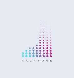 foot halftone digital symbol vector image