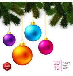 for poster or card with seasonal greetings vector image