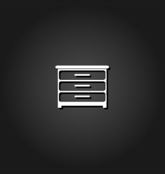 furniture icon flat vector image