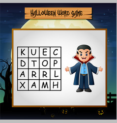game halloween find the word of dracula vector image
