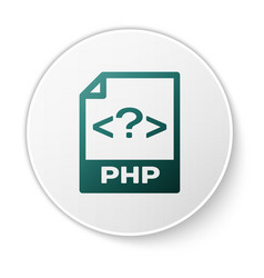 green php file document icon download php button vector image