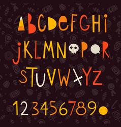 Halloween letters vector