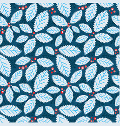 Holiday holly berry background vector