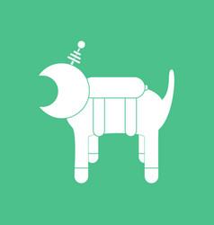Icon space dog vector