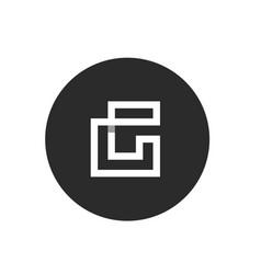 initial letter g minimalist monogram vector image