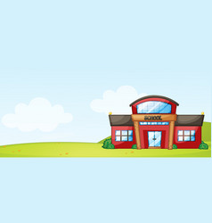 isolated school building in nature vector image