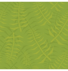 Jungle leaf seamless green pattern vector image