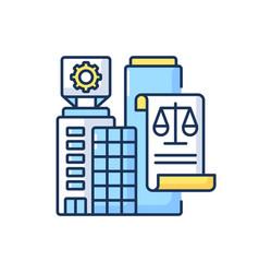 Legal entity rgb color icon vector