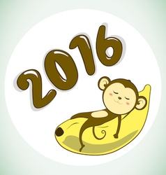 Monkey2016 vector image