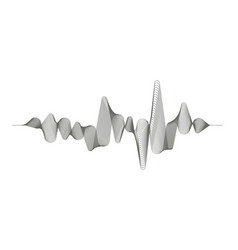 monochrome sound wave on white background vector image