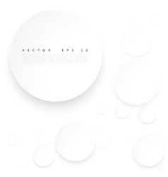 Paper circle with drop shadows vector image
