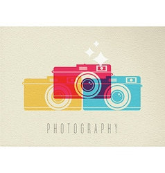 Photography camera icon concept color design vector image