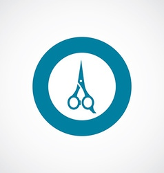 Scissors icon bold blue circle border vector