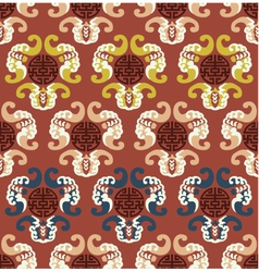 seamless chinese auspicious clouds pattern vector image