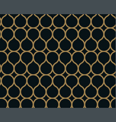 seamless linear pattern with crossing curved vector image