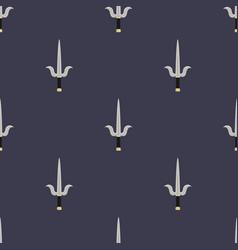 Seamless pattern with sai weapon ninja weapon vector