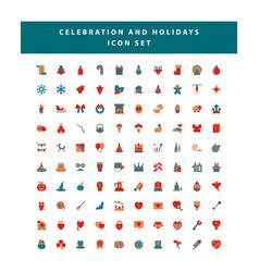 set celebration and holidays icon vector image