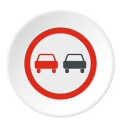 Sign overtaking icon flat style vector image