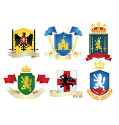 simple heraldic set vector image