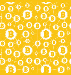 simple seamless pattern symbols bitcoins on vector image