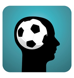Soccer ball brains vector image