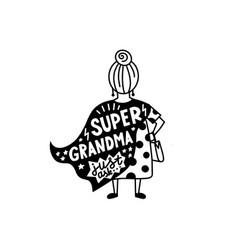 Super grandma graphic lettering vector