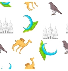 UAE country pattern cartoon style vector