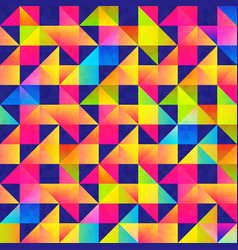 Vibrant triangle seamless pattern with grunge vector
