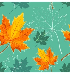 Vintage floral autumn fall seamless background vector