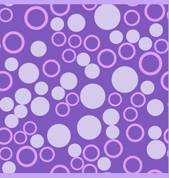 violet spots and circles seamless pattern vector image