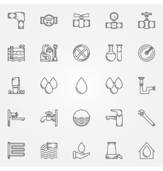 Water supply icons vector image