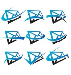 Envelope Logo Icons vector image vector image
