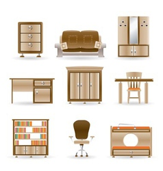 home and office furniture vector image vector image