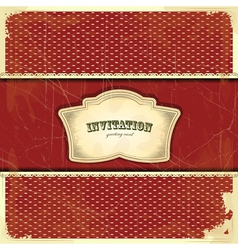 vintage card with place for text - scrapbook style vector image vector image