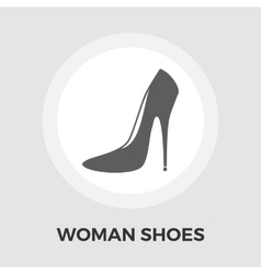 Woman shoes flat icon vector image