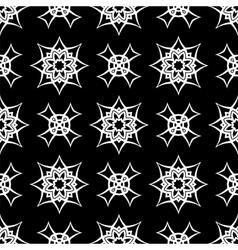 Black Ornamental Seamless Line Pattern vector image