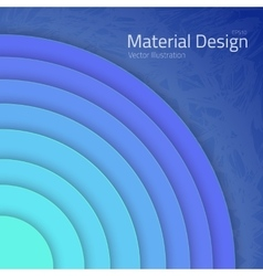 Bright Colorfull Material Design Abstract Circles vector image