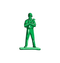 Green Builder Holding Hammer Retro vector image