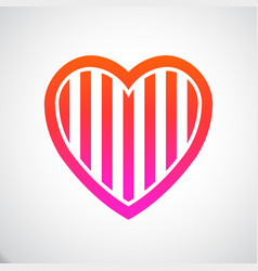heart stripes vector image